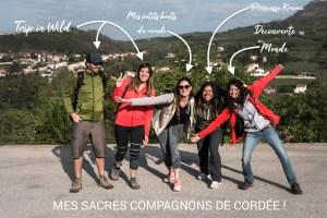 Mes compagnons de cordée en viaferrata à chaos de Montpellier-le-Vieux