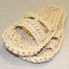 Тапочки вязанные с джута