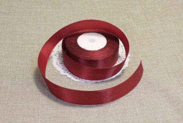 Лента атласная цвет Красно-коричневый