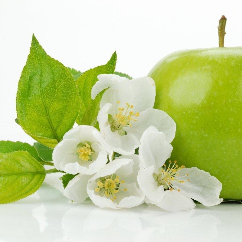 Зеленое яблоко цветы отдушка