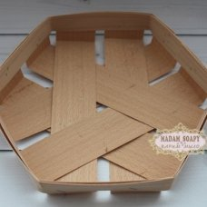 Корзинка шестигранная 16,5х16,5х2,5 см