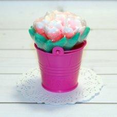 Мыло ручной работы Букет тюльпанов в ведерке