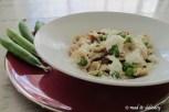 Orecchiette with peas, sun dried tomatoes...