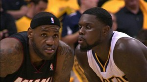Stephenson Blowing In Lebron's Ear