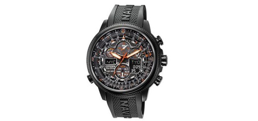 Citizen Men's Eco-Drive Navihawk A-T Black Polyurethane Strap Watch