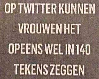 vrouwen en twitter