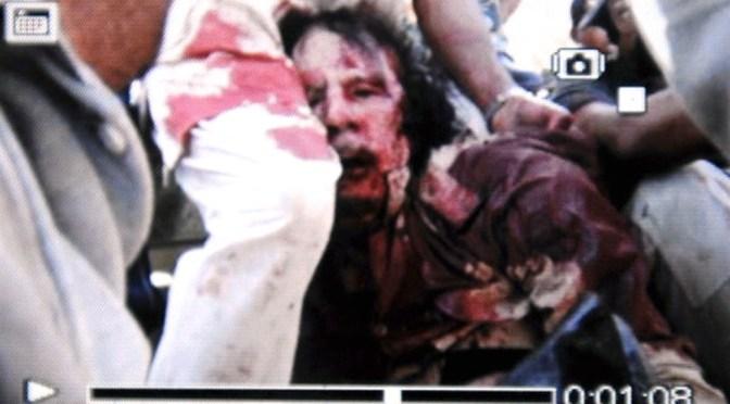 Waarom Gaddafi Dood Moest