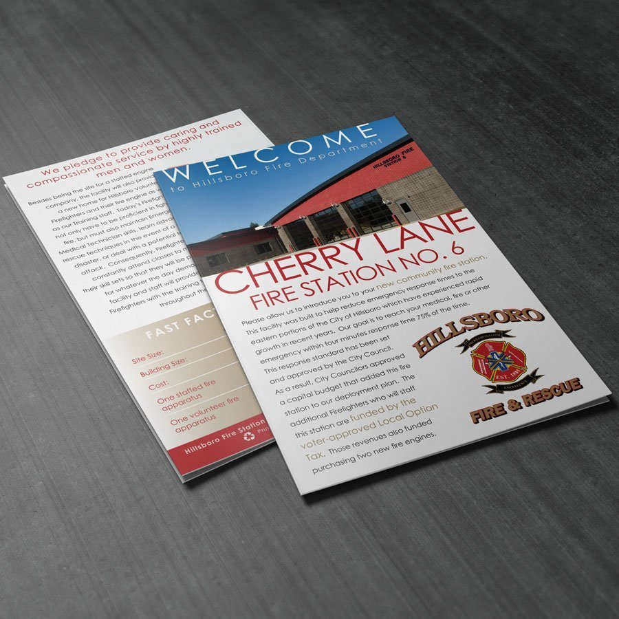 Cherry Lane Fire Station brochure