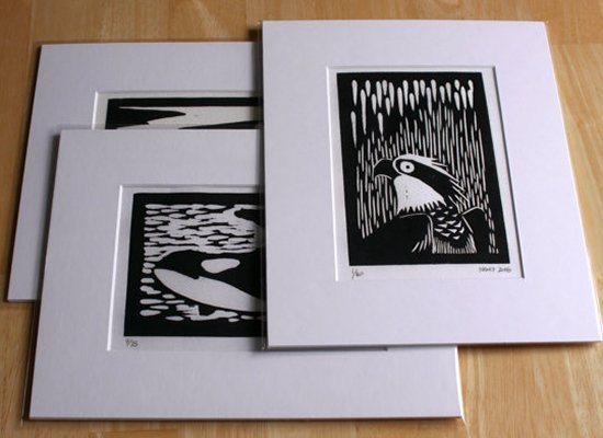 Framed Woodcut Prints