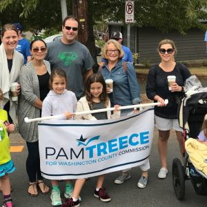 Pam Treece campaign kickoff event