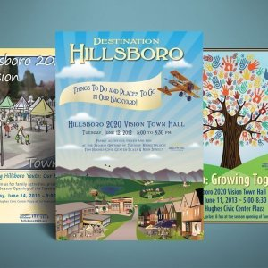 Hillsboro Town Hall Posters