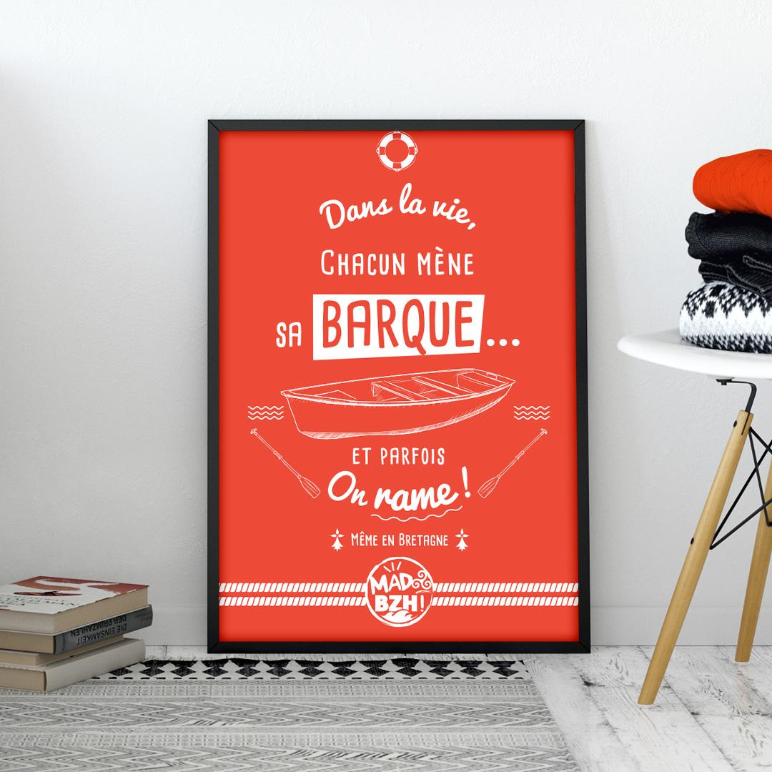 poster MAD BZH barque breizh bretagne