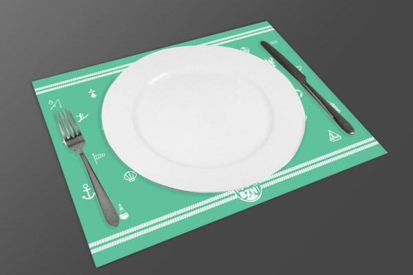 Set de table mad bzh modele beurre vert bzh breizh bretagne