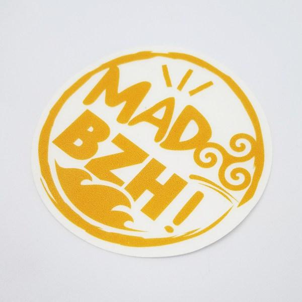 sticker orange mad bzh fond transparent