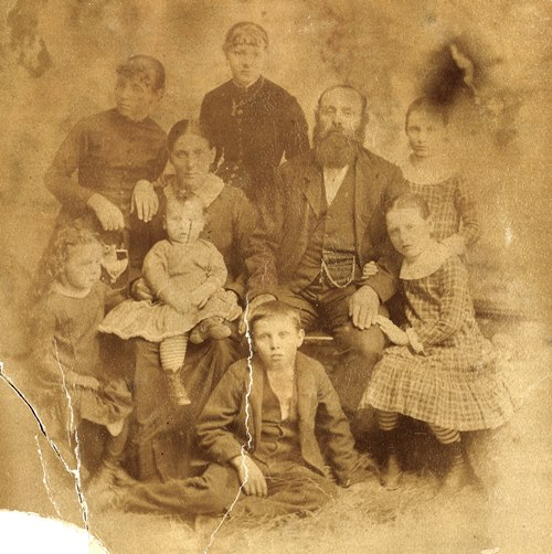 Isham Benson Gillham and family