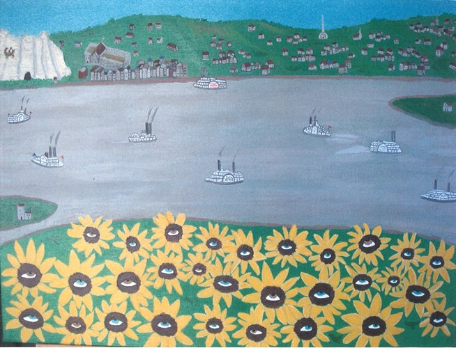 painting of Sunflower Island