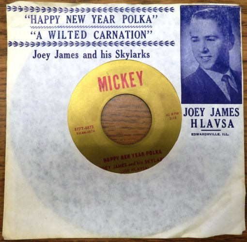 Joey James Hlavsa record in sleeve