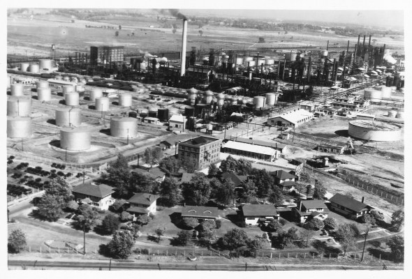 Aerial view, 1938