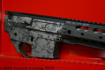 AR15 in 2 color Skull Pattern using Graphite Black & Tungsten