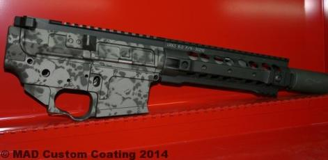 AR in 2 color Skull Pattern using Cerakote Tungsten & Graphite Black