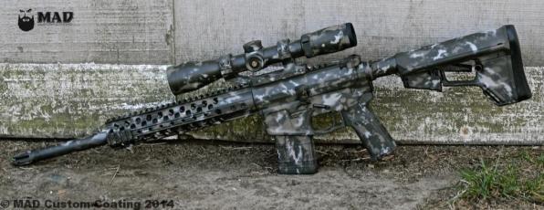 MAD Grunge Camo on a Wilson Combat .458 Socom AR