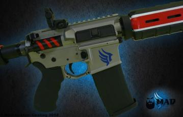 Mass Effect themed AR15 all in Cerakote