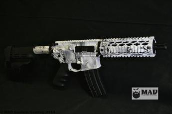 AR pistol in Cerakote MAD Dragon
