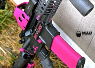Spike's Tactical AR15 in Cerakote Sniper Grey & Sig Pink with Sig Pink Color Fill