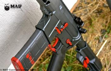 Rainier Arms AR15 in Cerakote Sniper Grey & S&W Red