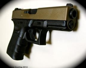 Burnt Bronze Glock 19 Gen 4 Cerakote