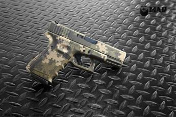 Glock 19 in 3 color Digital Camo Cerakote