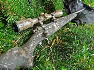 MAD Grunge Camo on a Ruger bolt action rifle