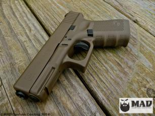 Glock 19 in Cerakote Patriot Brown & Graphite Black