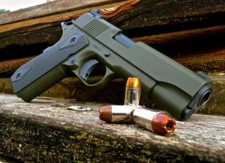 Dan Wesson 1911 in Cerakote OD Green & Sniper Grey