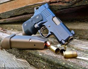 Warthog 1911 in Cerakote Midnight Blue & Burnt Bronze