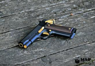 Colt 1911 in Cerakote Graphite Black & Gold