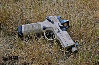 FN 45 in Cerakote Desert Sand & Graphite Black