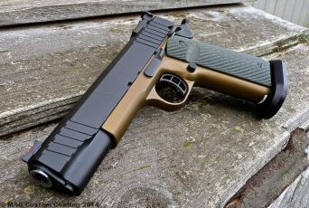 STI Spartan 9 in Cerakote Graphite Black & Burnt Bronze