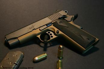 Kimber 1911 in Graphite Black and Burnt Bronze Cerakote