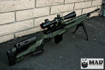 Springfield M1A in Cerakote OD Green and Graphite Black