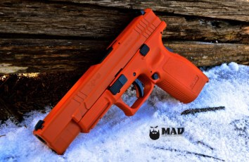 XD9 Tactical in custom mixed Cerakote Burnt Orange