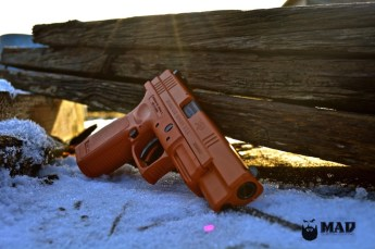 XD9 Tactical in custom mixed Burnt Orange Cerakote