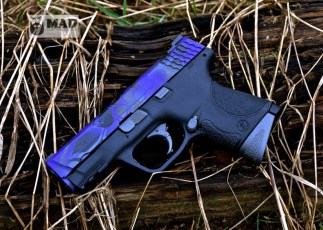 M&P in 3 color MAD Dragon using MAD Purple, Tungsten and Graphite Black