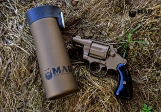 Colt Revolver in Cerakote Burnt Bronze w/ Matching MAD Coffee Mug