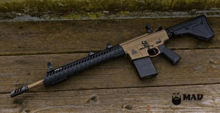 Black Hole Weaponry AR308 in Cerakote Burnt Bronze w/ Graphite Black color fill