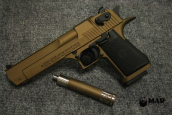 Desert Eagle in Cerakote Burnt Bronze and Armor Black