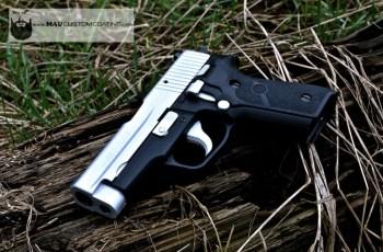 Sig P228 in Satin Aluminum Cerakote