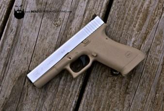 Glock 17 Gen 1 in Cerakote Desert Sand & Satin Aluminum