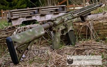 Seekins Precision AR15 in Cerakote A-Tacs camo