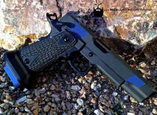STI 2011 in our Reliability Package using Cerakote Cobalt, Ridgeway Blue, MAD Black & Micro Slick